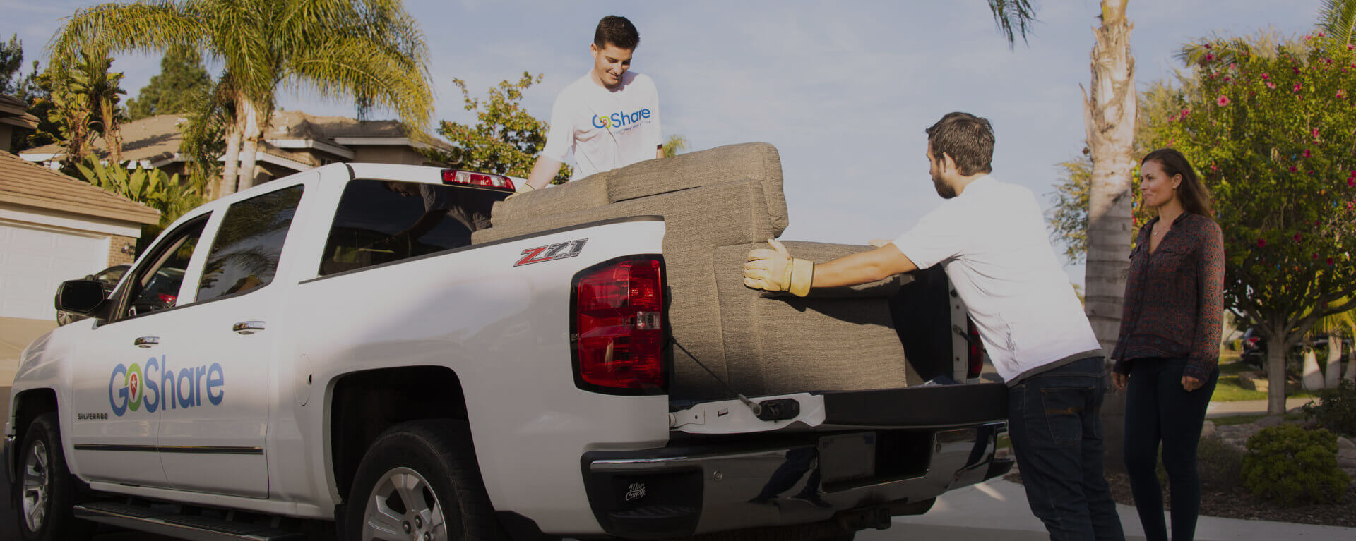 Guys putting man into back of pickup truck clipart picture black and white library Delivery, Truck Rental, Moving Companies, Movers, Shipping | GoShare picture black and white library