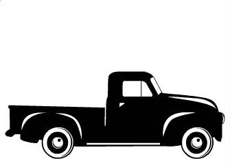 Guys putting man into back of pickup truck clipart svg transparent library SVG cut Vintage Pickup - Truck cut file - Fall Boys SVG Cut File ... svg transparent library