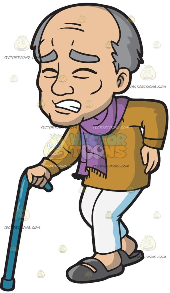 Guys with black hair and grey eyes clipart svg royalty free download An Old Man In Pain While Walking: An old man with gray hair wearing ... svg royalty free download