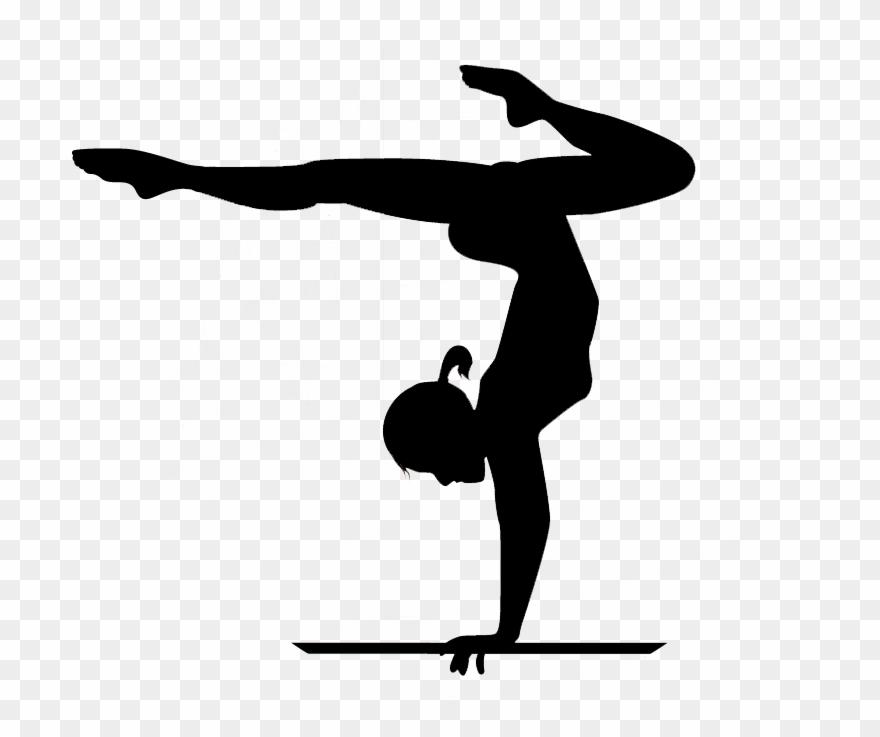 Gymnast handstand clipart clipart black and white download Gymnastics Handstand Clip Art - Png Download (#243820) - PinClipart clipart black and white download
