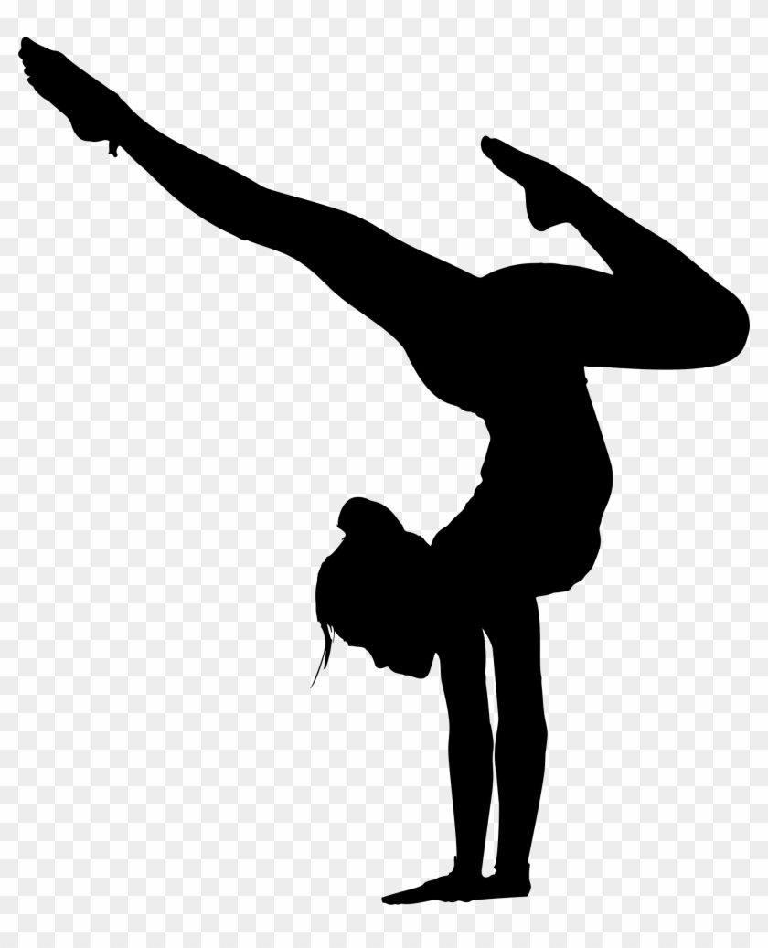 Gymnasticsn clipart clip download Gymnastics Clipart - Yoga Pose Silhouette, HD Png Download ... clip download