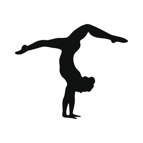 Gymnist clipart svg royalty free library Free Gymnast Handstand Silhouette, Download Free Clip Art, Free Clip ... svg royalty free library