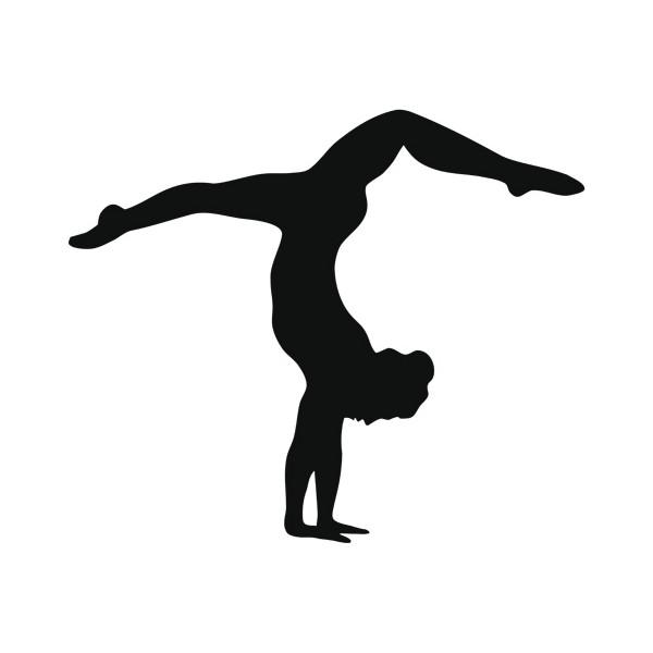 Gymnast handstand clipart