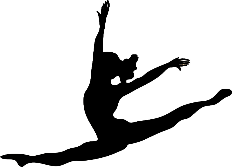 Gymnast outline clipart clip black and white stock Free Gymnastics Silhouette Cliparts, Download Free Clip Art, Free ... clip black and white stock
