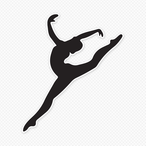 Gymnast outline clipart vector transparent library Free Gymnastics Silhouette Cliparts, Download Free Clip Art, Free ... vector transparent library