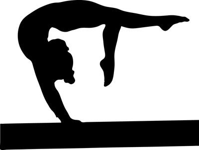 Gymnist clipart image black and white stock Gallery For > Gymnastics Clipart Images | gym | Silhouette clip art ... image black and white stock