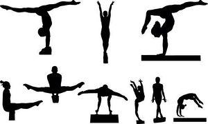 Gymnastics clipart beam black svg transparent Gymnastics clipart boy on balance beam gymnastic 4 - WikiClipArt svg transparent