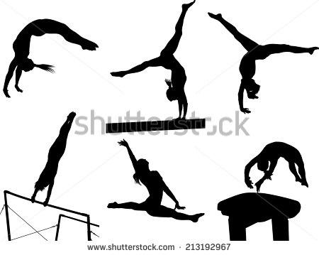 Gymnastics clipart silhouette vault banner Gymnastics moves clipart - ClipartFest banner