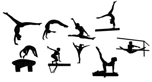 Gymnastics clipart silhouette vault royalty free library Girl Gymnastics Clipart Silhouette image tips royalty free library