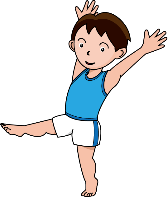 Gymnastics kids clipart picture black and white Gymnastics clipart kids » Clipart Station picture black and white