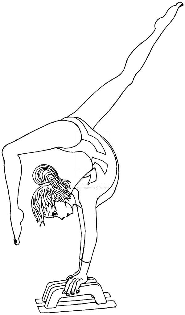 Gymnastics leotard clipart black in white coloring page graphic library library Gymnastics Coloring Pages | Layla | Sports coloring pages, Coloring ... graphic library library