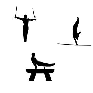 Gymnastics vector clipart clip art stock Free Vectors: Gymnastics Silhouette Free Vector | Vectorfantasy clip art stock