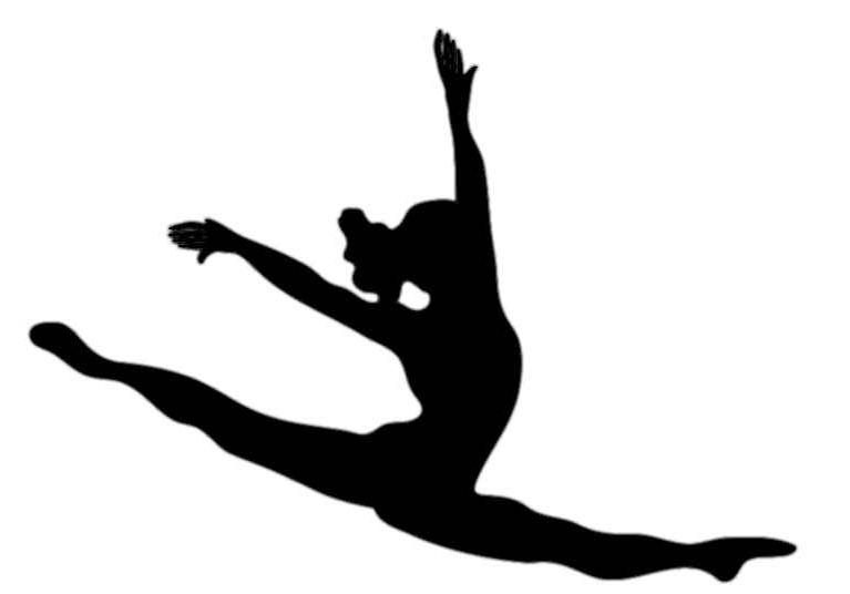 Gymnist clipart graphic download Gymnastics Black And White | Free download best Gymnastics Black And ... graphic download