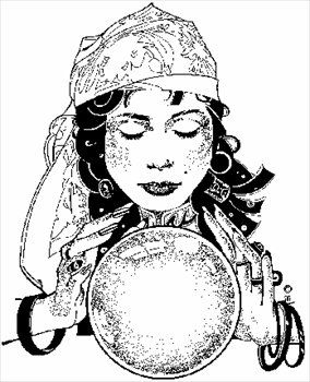 Gypsy and crystal ball clipart black and white vector black and white gypsy woman | For the Love of the Gypsy | Gypsy drawing, Crystal ... vector black and white