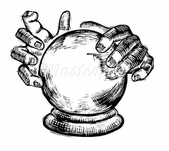 Gypsy and crystal ball clipart black and white image royalty free library A crystal ball in psychic hands awesome design clipart - ClipartBarn image royalty free library