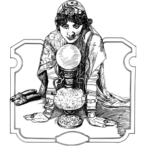 Gypsy and crystal ball clipart black and white jpg black and white download Crystal Ball Fortuneteller clipart, cliparts of Crystal Ball ... jpg black and white download