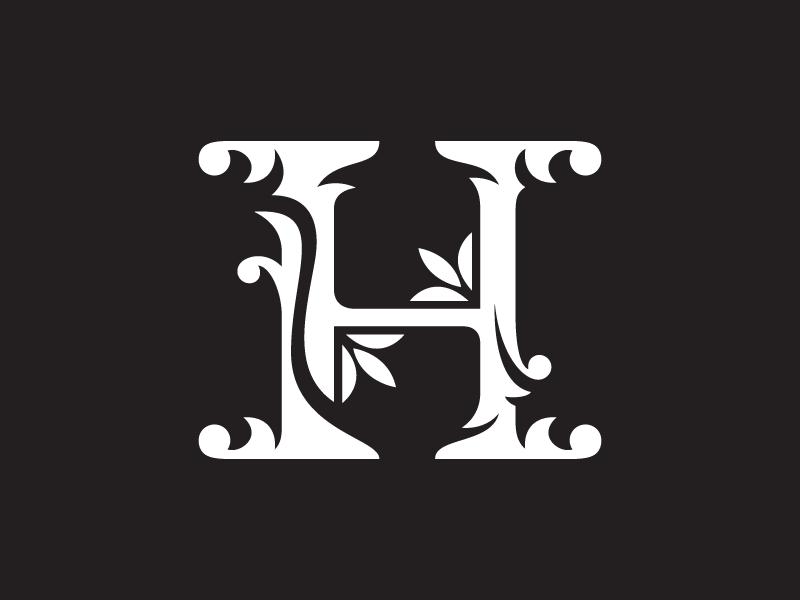 H logo clipart transparent stock Letter H Floral Clipart by Heavtryq on Dribbble transparent stock