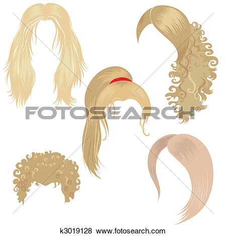 Haare kind clipart clipart free download Clip Art of blond hair styling k3019157 - Search Clipart ... clipart free download