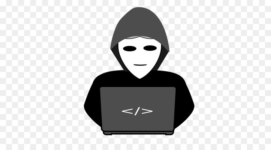Hacker clipart image free stock Computer Cartoon clipart - Black, Smile, Font, transparent clip art image free stock