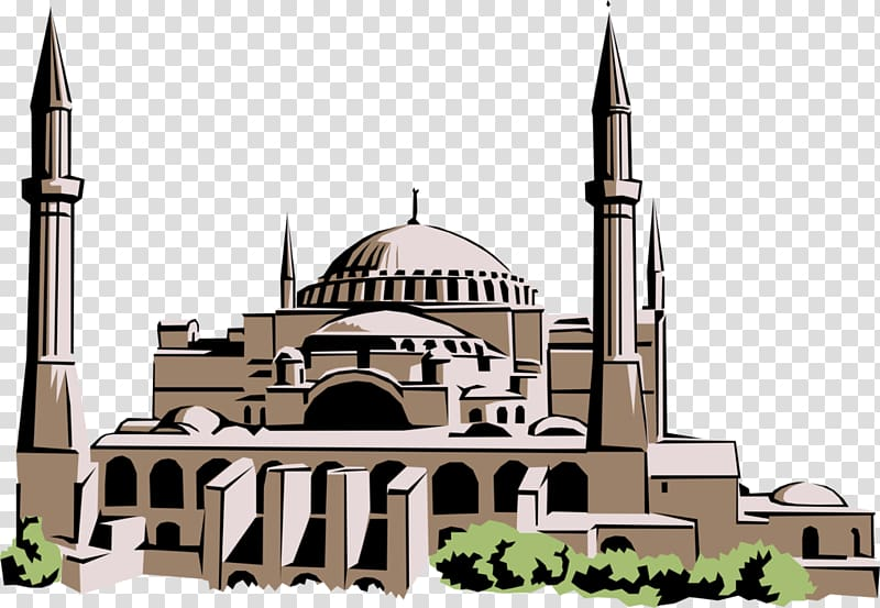 Hagia sophia clipart vector black and white download Hagia Sophia Mosque Byzantine Empire Byzantine architecture ... vector black and white download
