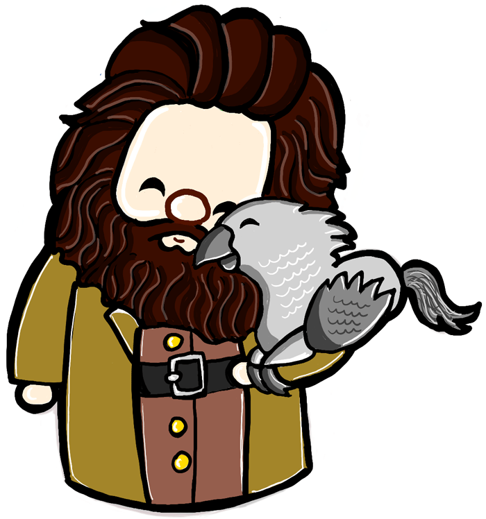 Hagrid clipart picture download How to Draw a Cute Chibi Hagrid and Buckbeak from Harry Potter ... picture download