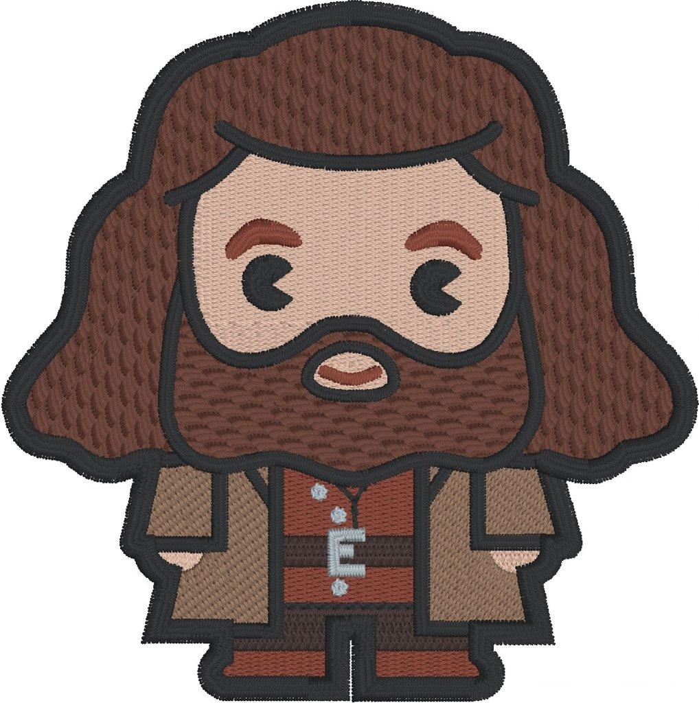 Hagrid clipart transparent stock Harry Potter Chibi Hagrid 4x4 machine embroidery design transparent stock