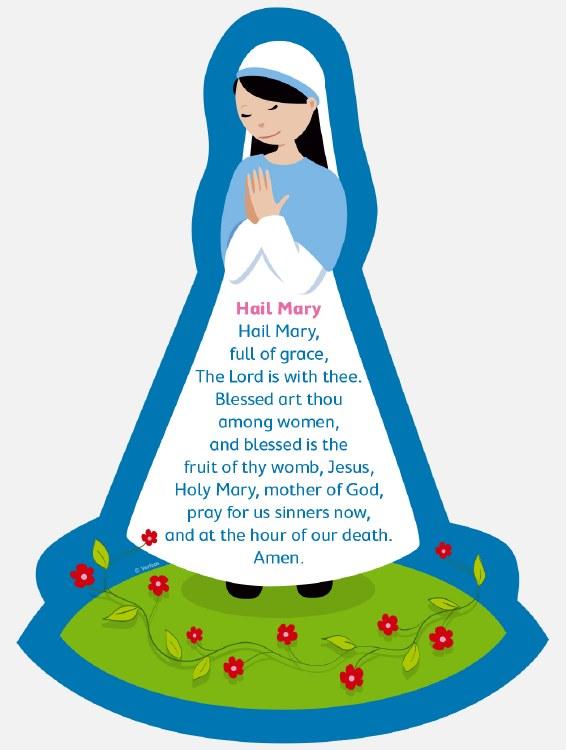 Hail mary clipart jpg freeuse download Hail Mary Grow in Love Plaque 34 x 24 cm jpg freeuse download
