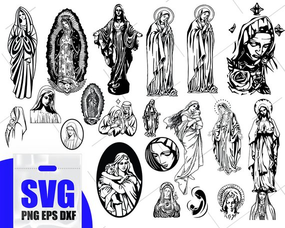 Hail mary clipart freeuse Mother of jesus svg, virgin mary svg, pray to mary svg, blessed ... freeuse