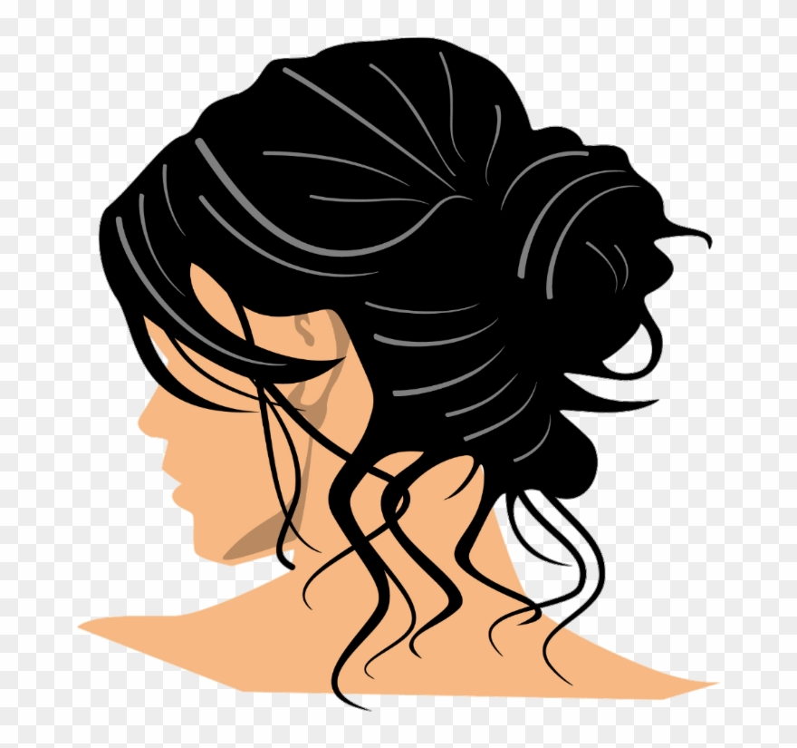Hair bun clipart graphic free library Lady Hair Bun - Messy Bun Clip Art - Png Download (#1477273 ... graphic free library