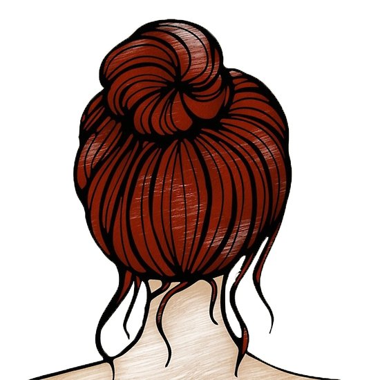 Hair bun clipart image freeuse \'messy bun pencil sketch\' Poster by cinnamonknot image freeuse