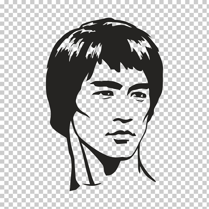 Hair cliparts by jeet creation clip black and white library Dragon: The Bruce Lee Story Sticker Tao of Jeet Kune Do Phonograph ... clip black and white library