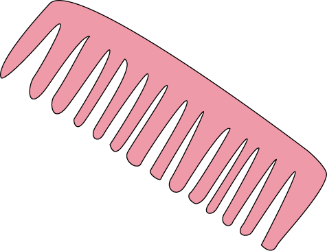 Hair comb clipart clipart free stock Pink Hair Comb Clip Art - Pink Hair Comb Image | Clip Art-Misc ... clipart free stock