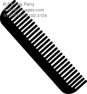 Hair comb clipart graphic library library Clip Art Illustration of a Hair Comb graphic library library