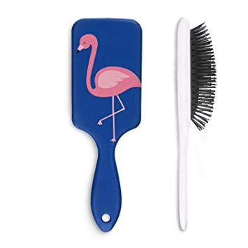 Hair comb clipart clip black and white stock Amazon.com : Pink Flamingo Clipart Hair Comb or Brush -Full Paddle ... clip black and white stock