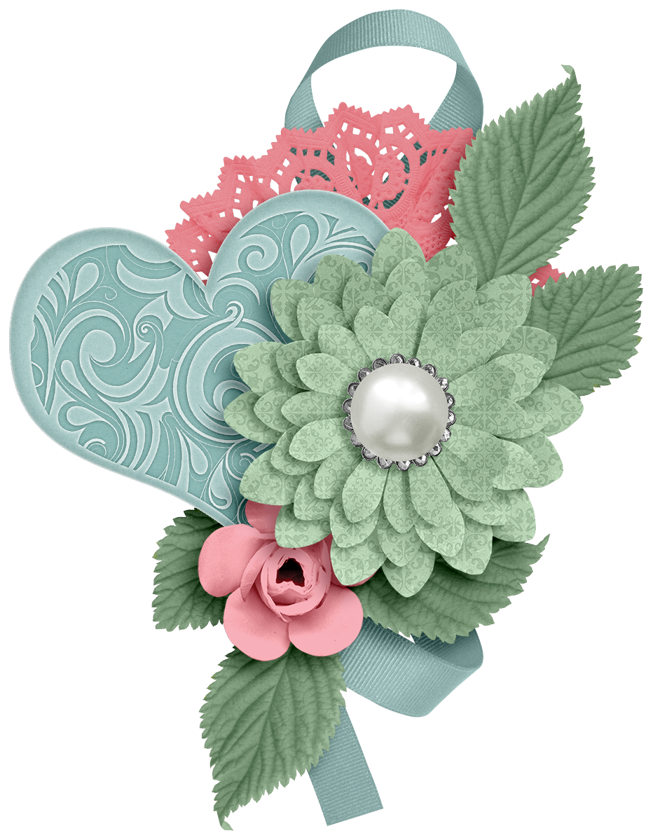 Teal and pink flower clipart vector royalty free stock CH.B *✿* FLOWER | love | Pinterest | Flower, Scrapbooking and Scrapbook vector royalty free stock
