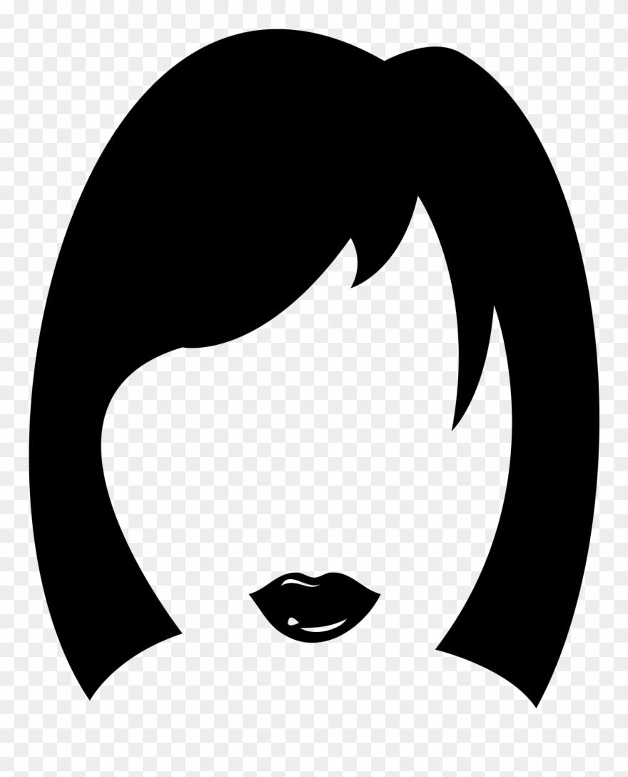 Women s hairstyles clipart image library stock Haircut Clipart Woman Hair - Women\'s Hair Icon - Png Download ... image library stock