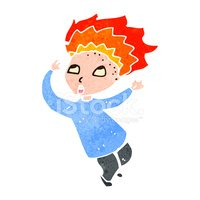 Hair on fire clipart clipart free download Retro Cartoon Boy With Hair on Fire stock vectors - Clipart.me clipart free download