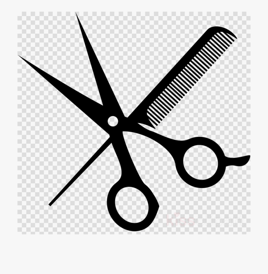 Hairdressing clipart pictures svg stock Hairdresser Scissors Barber - Hair Salon Clipart Png #1243875 - Free ... svg stock