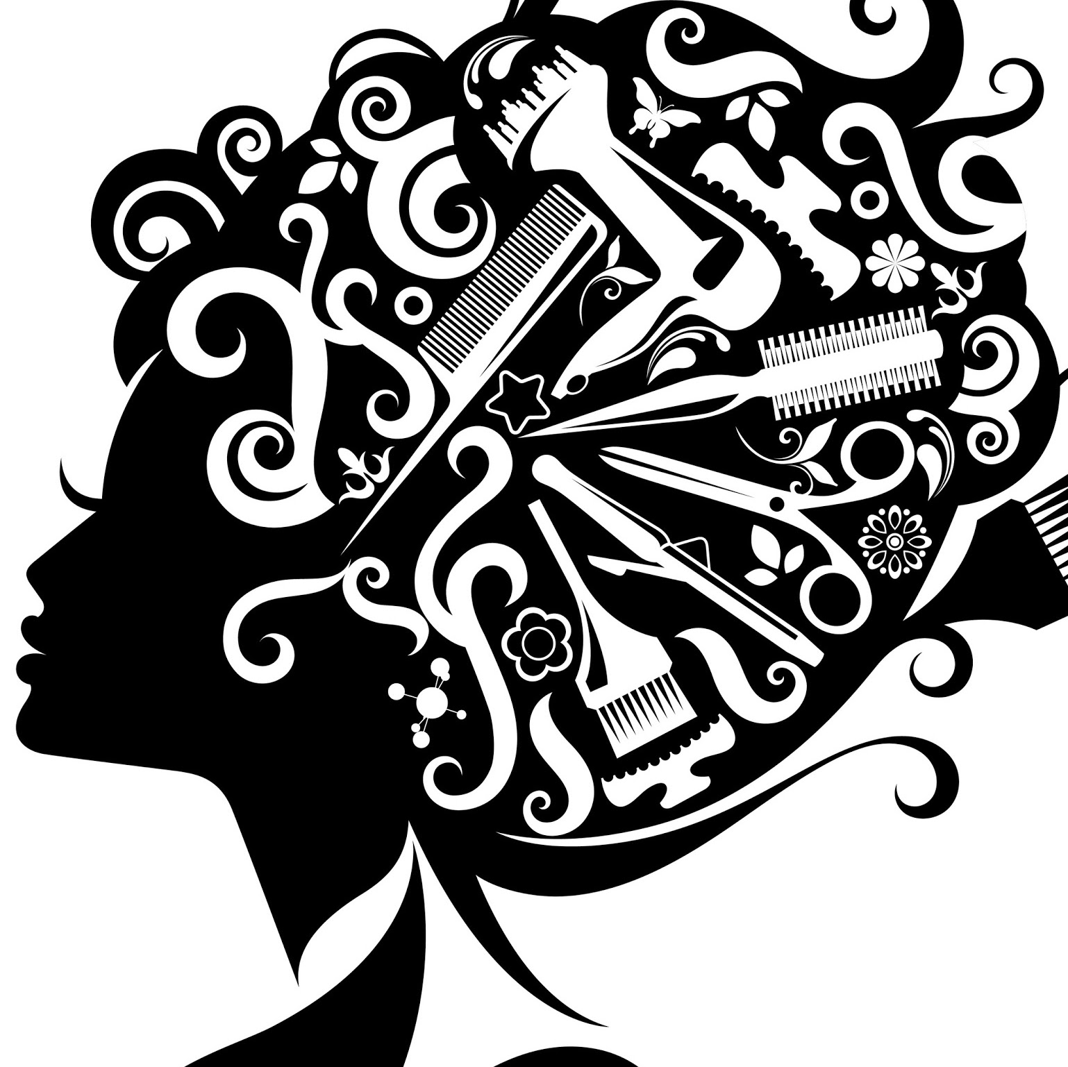 Best hair styling clipart png transparent stock Hair Salon Png Black And White & Free Hair Salon Black And White.png ... png transparent stock