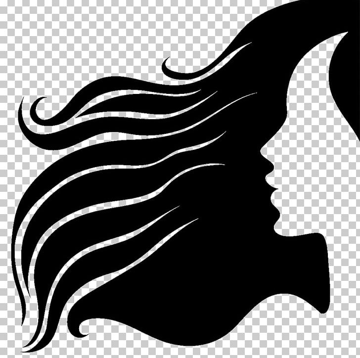 Hair silhouette clipart png royalty free download Silhouette Long Hair Hairstyle PNG, Clipart, Animals, Black, Black ... png royalty free download