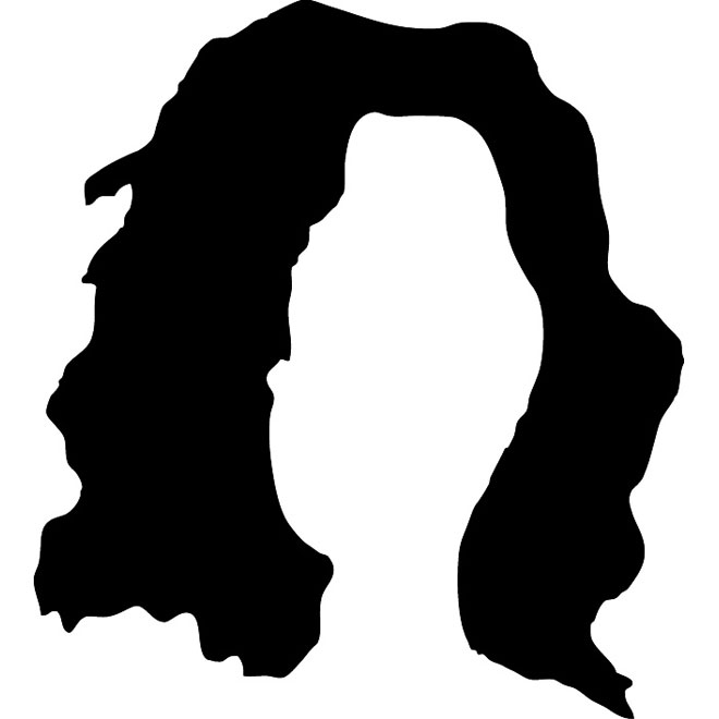 Hair silhouette clipart picture free download Hair Silhouette Free Vector picture free download