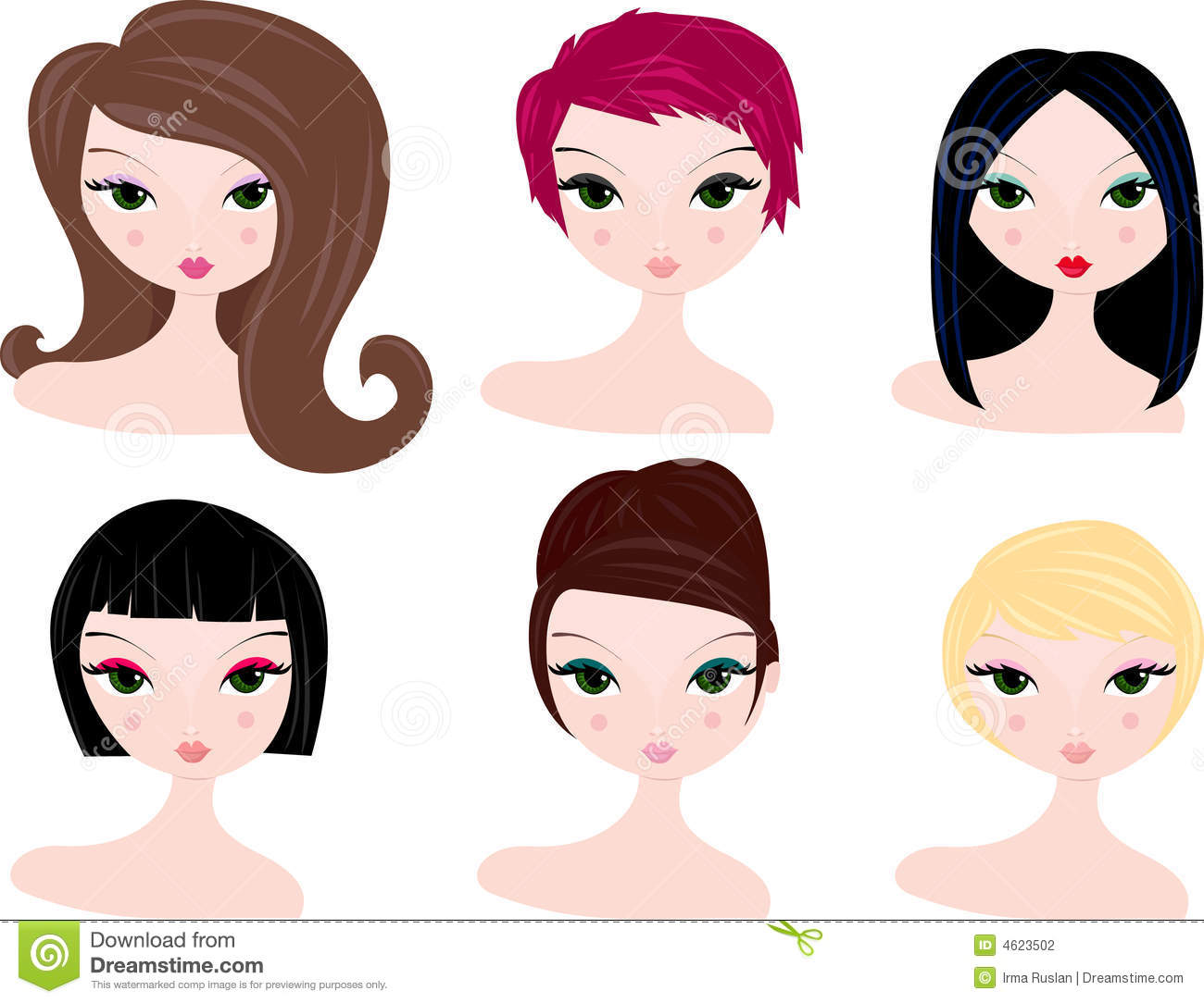 Hair style clipart photo picture transparent download Collection of 14 free Haircut clipart little girl hairstyle sales ... picture transparent download