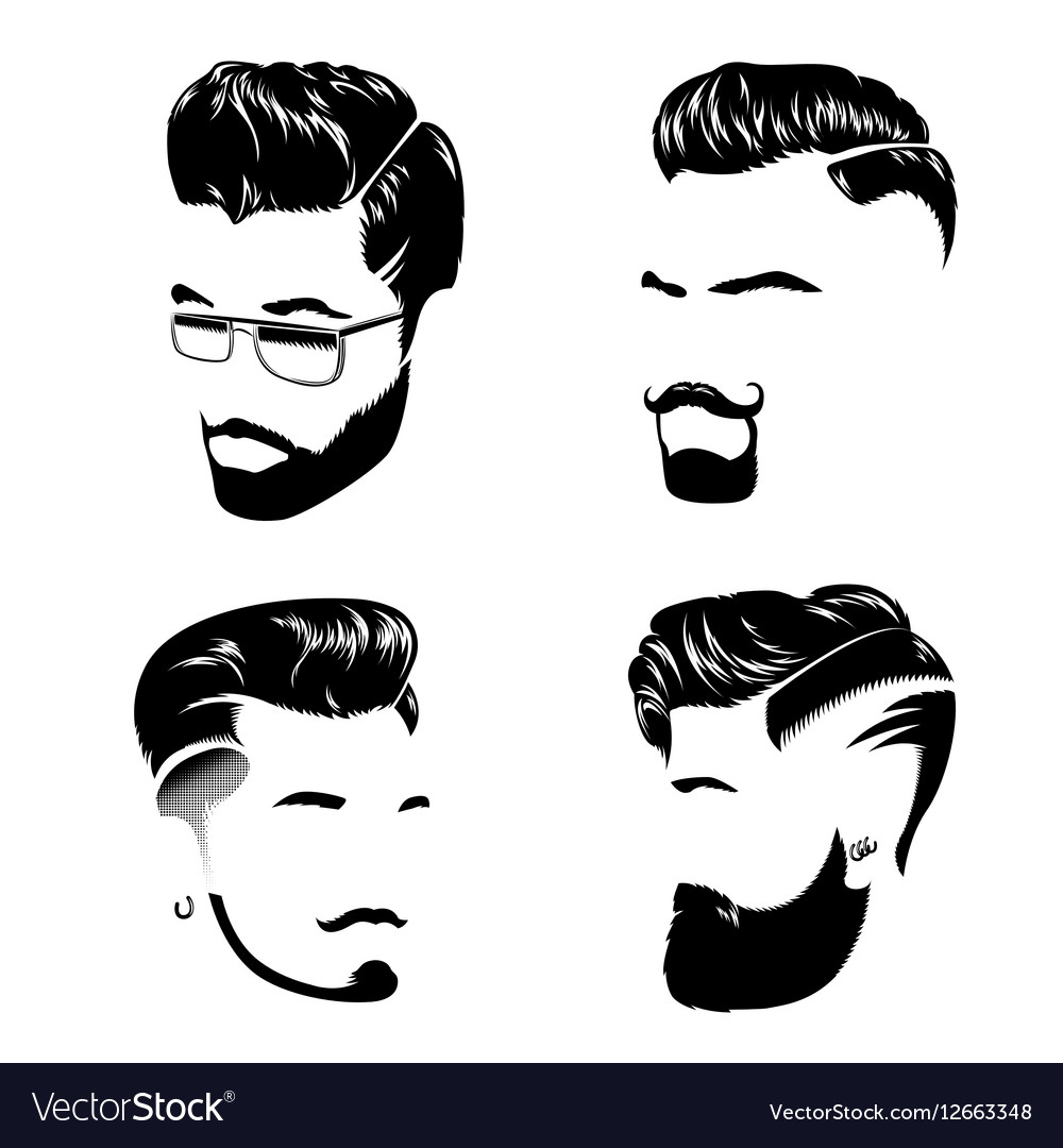 Hair style men clipart svg black and white library Man Hair Style Collection svg black and white library