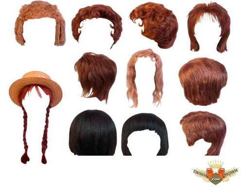 Hair styles clipart for photoshop vector royalty free library Women hair styles png clip art vector royalty free library