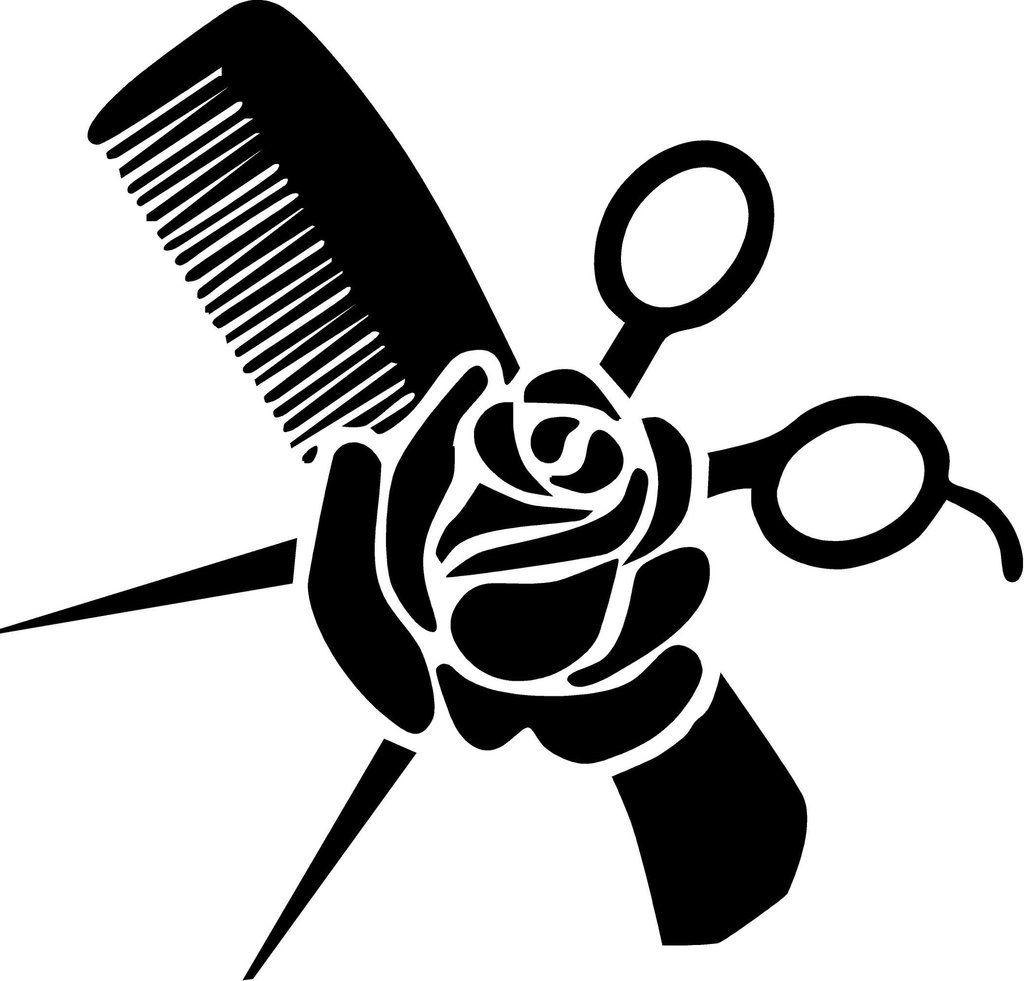 Hair stylist clipart jpg free library Hair Stylist Vinyl Decal Measures Approximately 7 X 6 | Hair Stylist ... jpg free library