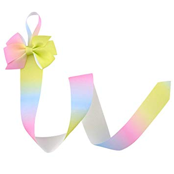 Hairbow clipart black and white long tail jpg transparent Amazon.com: Fashion Hairbow With Long Tail Rainbow Ribbon Hair Bows ... jpg transparent