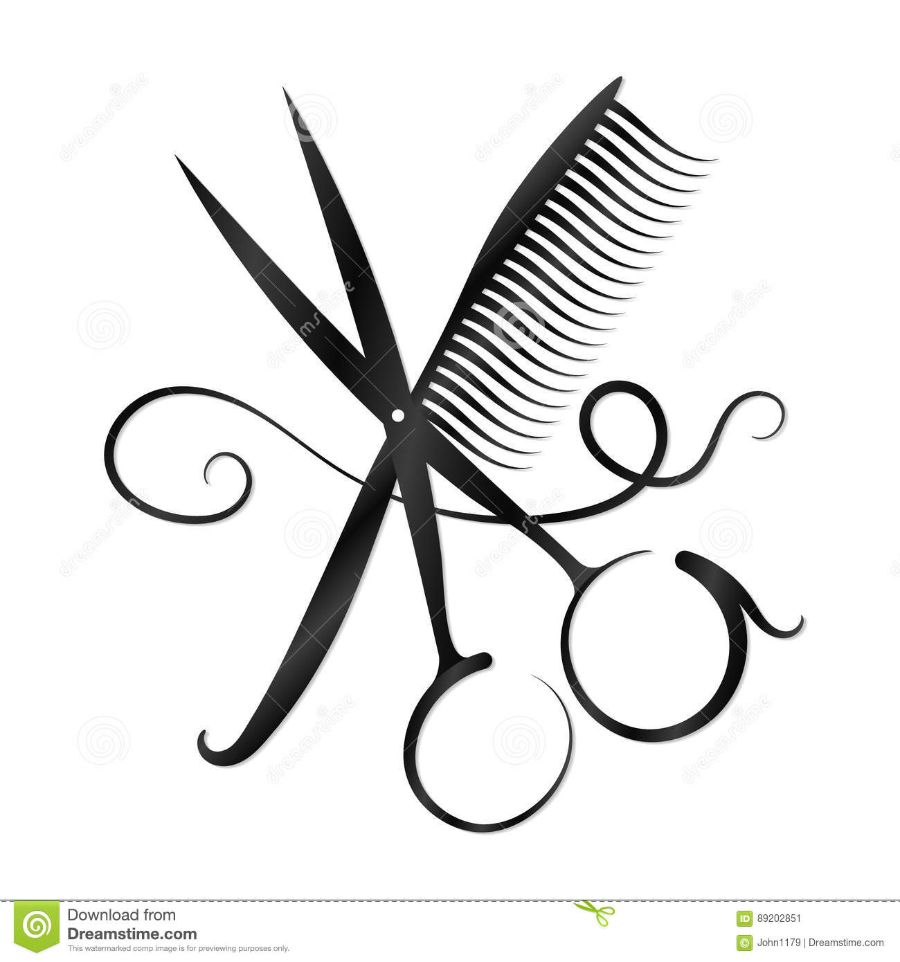 Hairdressing clipart pictures graphic black and white download Collection of 14 free Comb clipart hairdressing scissors bill ... graphic black and white download
