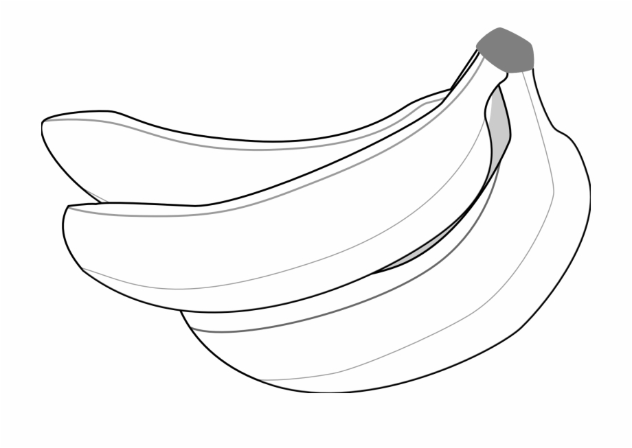 Half a bannana clipart black and white png transparent stock Clip Art Banana Clip Art Black And White - Vector Black And White ... png transparent stock