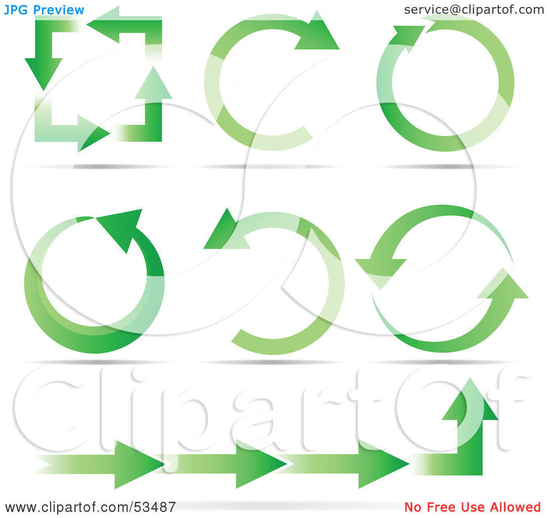 Half circle arrow clipart image free Royalty-Free (RF) Clipart Illustration of a Green Ecology Arrows ... image free