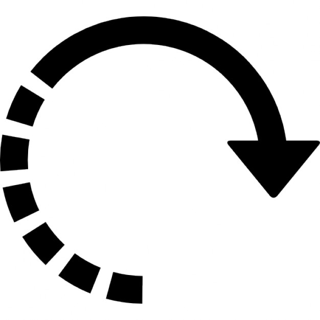 Half circle arrow clipart png black and white library Circular right arrow with half broken line Icons | Free Download png black and white library